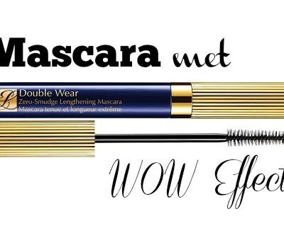 Mascara met WOW Effect: Estee Lauder Double Wear zero smudge