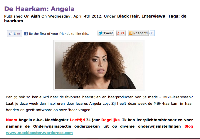 Macblogster op 'My Black Hair'