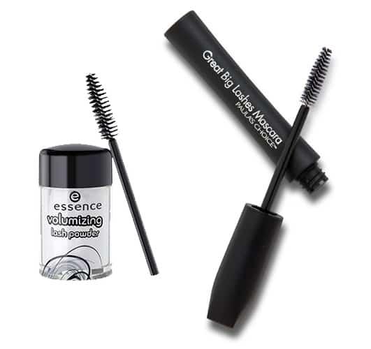 Essence volumizing lash powder & Paula's Choice Big Lashes Mascara