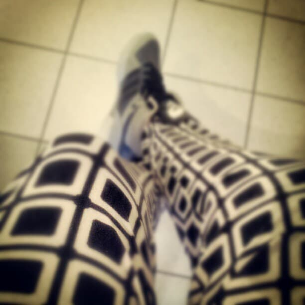 Macblogster wearing harem pants big on fashion