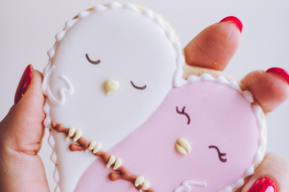 Lekkere koekjes bakken met glazuur