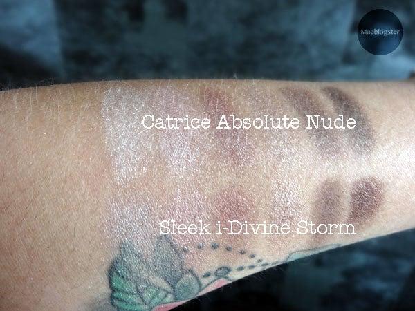 Catrice vs Sleek storm swatches