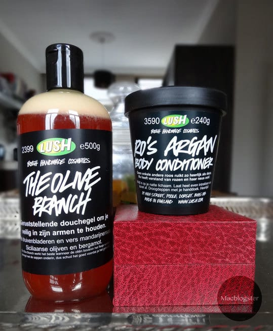 I love: Lush The Olive Branch & Ro's Argan Body Conditioner