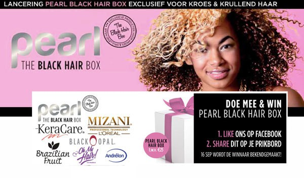 Pearl Black Hair Box: nieuwe box voor girls with curls