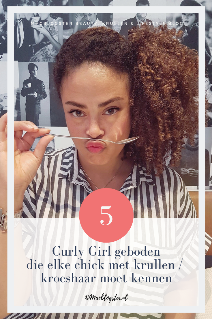 Curly Girl geboden die elke chick met krullen / kroeshaar moet kennen