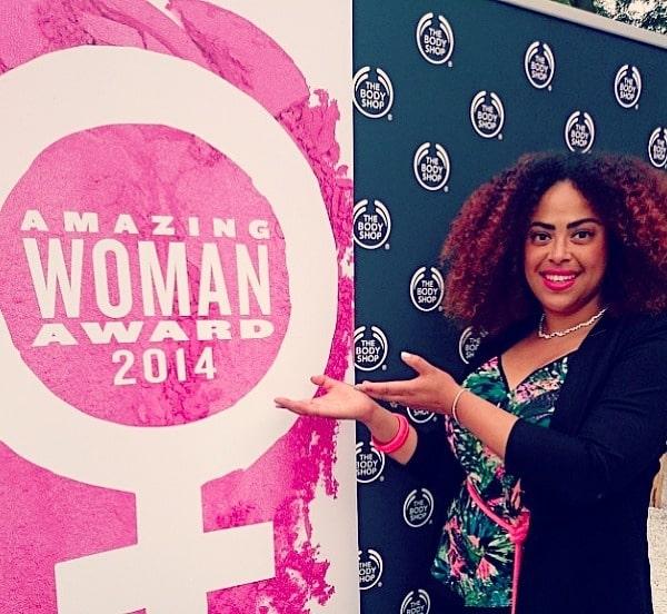 The Body Shop Amazing Woman Award + WINNEN