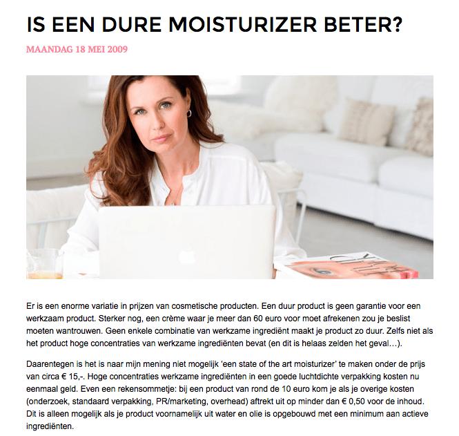 skin care volgens Jetske Ultee