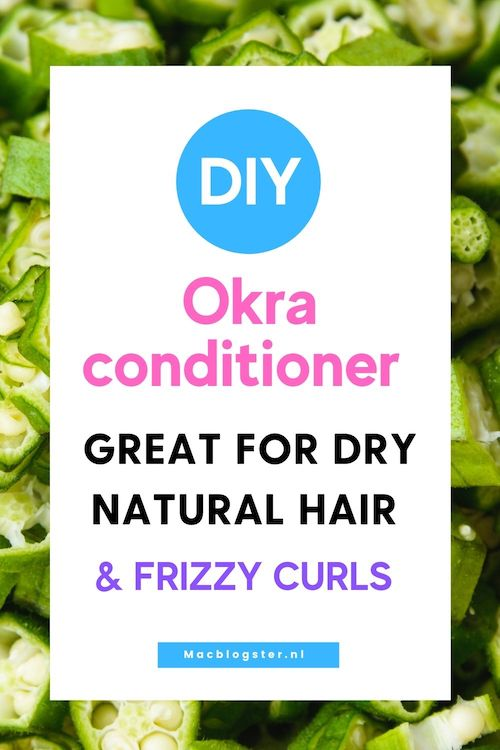 This DIY Okra leave-in conditioner is great for dry natural hair & frizzy curls