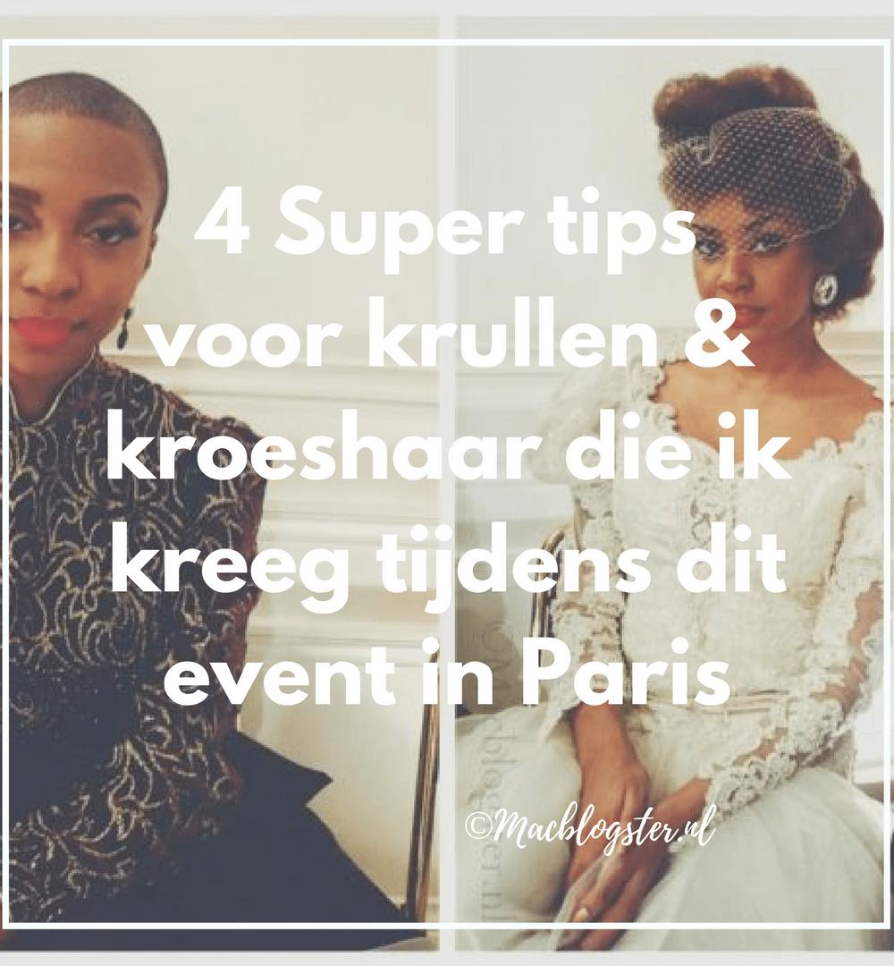 4 Super tips voor krullen & kroeshaar die ik kreeg tijdens Natural Hair Academy Paris