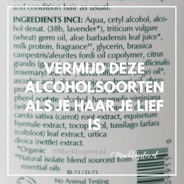 Goede en slechte alcohol haarproducten
