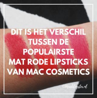 Dit is het verschil tussen de populairste rode MAC lipsticks