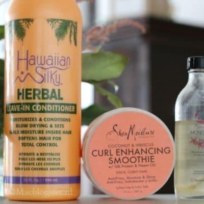 Mooie krullen: Hawaiian Silky, Shea Moisture & Monoi Oil