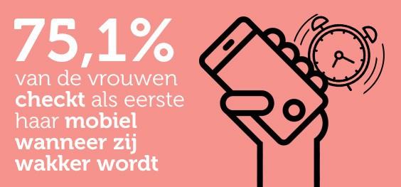Houden vrouwen meer van hun mobiel dan van seks?