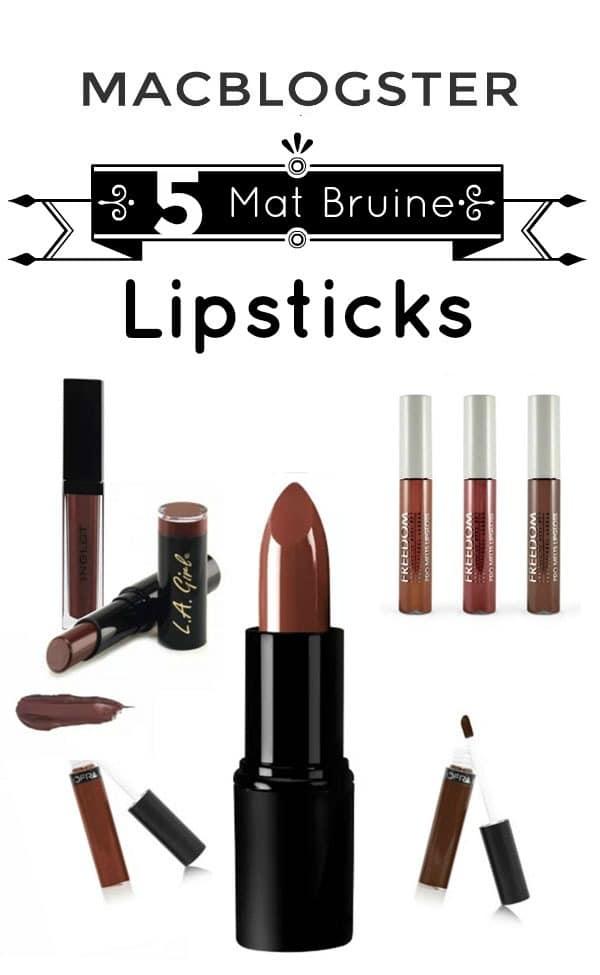 5 Mat Bruine Lipsticks