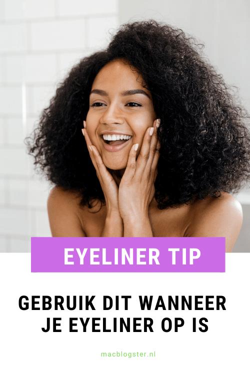 Eyeliner tip die je kunt gebruiken wanneer je eyeliner op is
