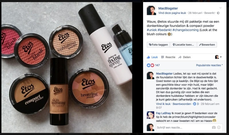 Etos Make-up Newsflash: Nieuwe Producten