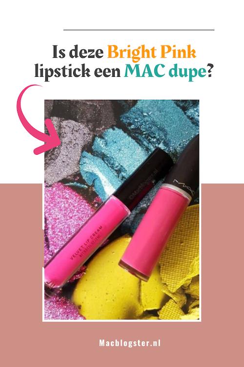 Is deze roze lipstick van de H&M net zo goed als die van MAC?