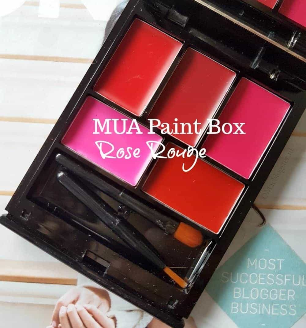 MUA Paint Box Rose Rouge: lipstick voor budget beauties
