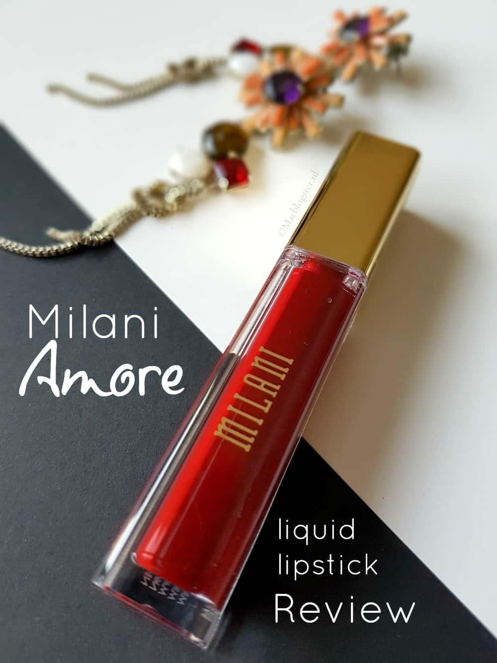 Mat rode liquid lipstick waar je U tegen zegt! Milani Amore Attraction