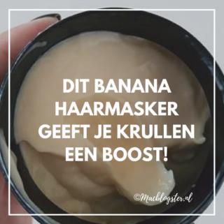 Dit Banana haarmasker van The Body Shop geeft je krullen een boost!