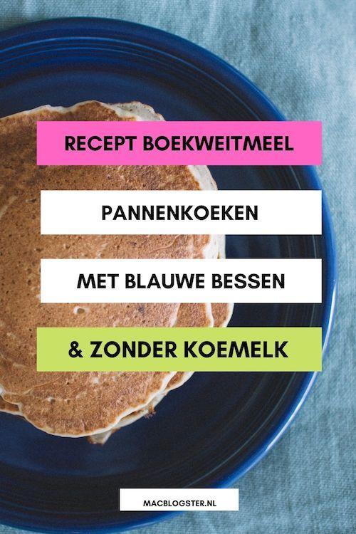 Boekweitmeel pannenkoeken met blauwe bessen - zonder koemelk