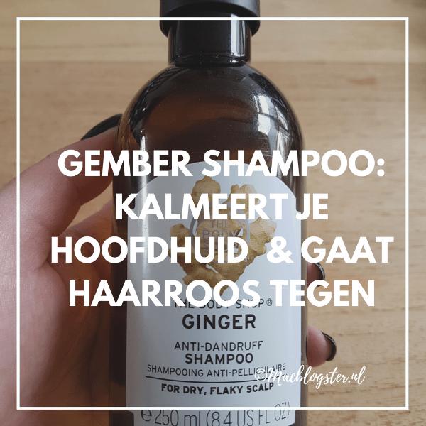 Gember Shampoo: kalmeert je hoofdhuid & gaat roos tegen
