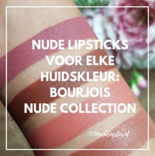 Nude lipsticks voor elke huidskleur: Bourjois Rouge Velvet Nude Collection