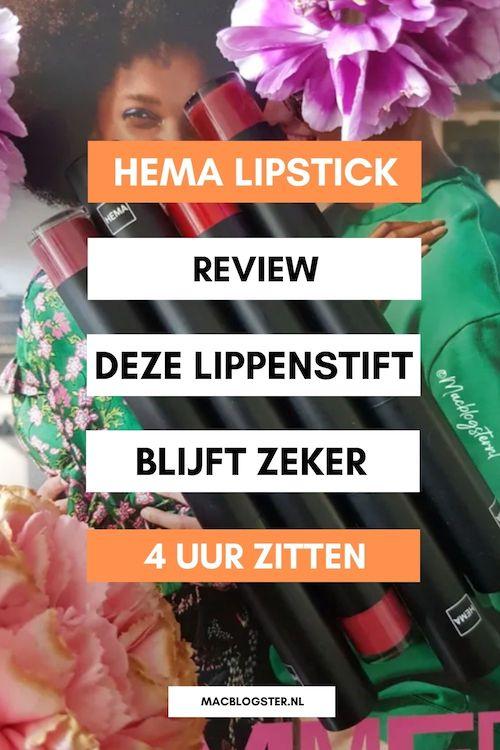 HEMA lipstick review: deze lipsticks blijven zeker 4 uur zitten