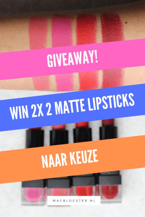Win 2x 2 matte lippenstift die je lippen niet droog maakt!