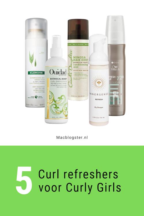 5 Curl refreshers voor krullend haar