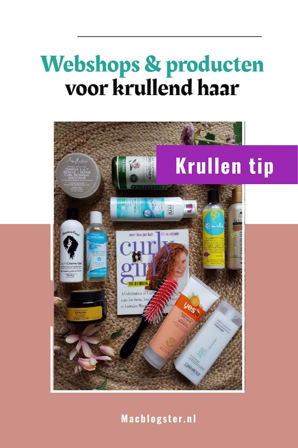 CG webshops en producten voor krullend haar