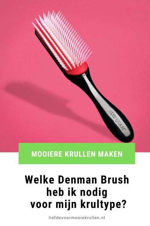 Welke Denman brush geeft mooie krullen?