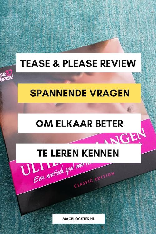 Review: Tease en Please Ultiem Verlangen: hét sexy spel met spannende vragen