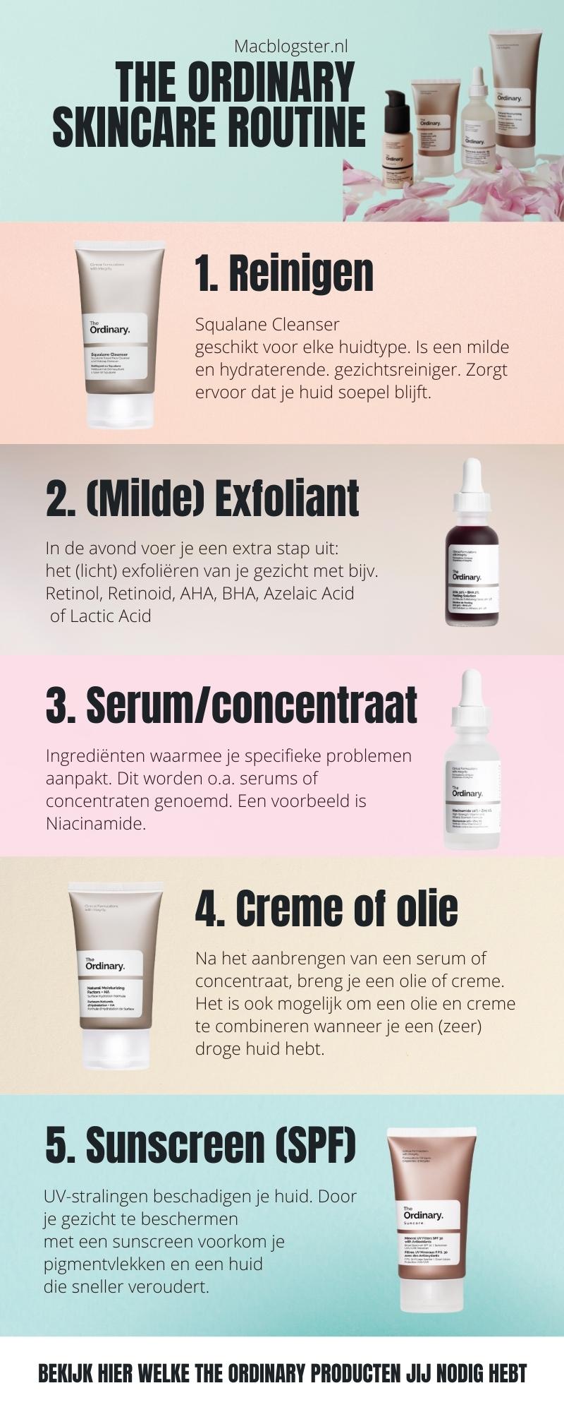 The Ordinary skincare routine Nederlands